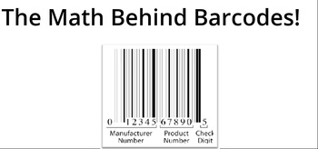 Math behind Barcodes or UPCs Consumer Products Weighted
