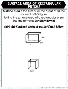 Distance Learning Math from Home Packet by To the Square