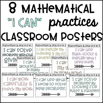 Mathematical Practices I Can Posters & Decor by The 615