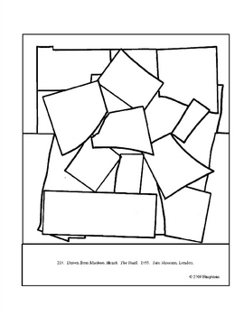Matisse, Henri. The Snail. Coloring page and lesson plan ideas