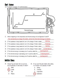 Matter Changing States Worksheet by Adventures in Science