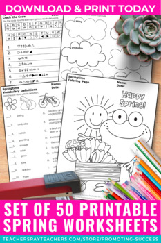 Print and Go May Activities, Early Finishers Worksheet by