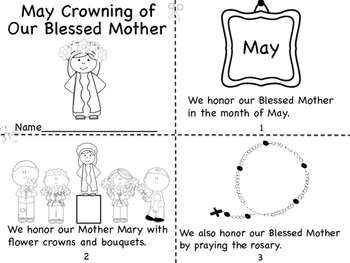 May Crowning of Our Blessed Mother Mini Book/Coloring