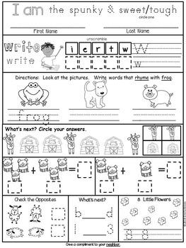 Homework: Kindergarten May Packet (Differentiated Common