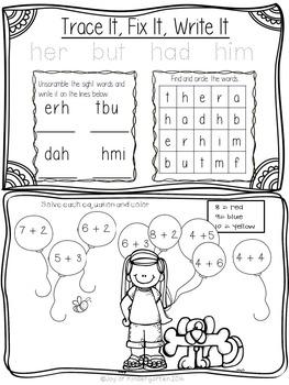 May Kindergarten Common Core Homework by Joy of