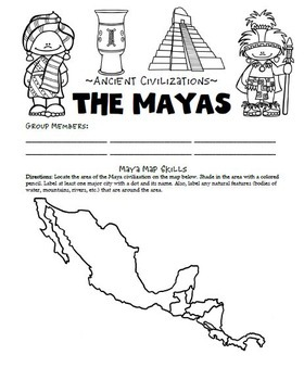Maya Civilization Activities, Printables, Lesson Plans by