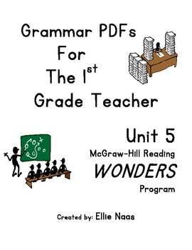 McGraw Hill Reading WONDERS GRAMMAR PDFs Unit 5 First