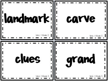 Wonders Grade 3: Unit 1 Week 5 Vocabulary Games by