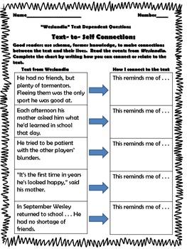 Text Dependent Questions Worksheet : dependent, questions, worksheet, Weslandia, Dependent, Questions, Michelle, Morris