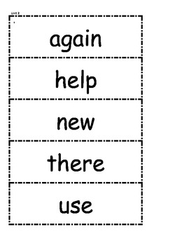 McGraw Hill Wonders High Frequency Words Unit 2 1st Grade