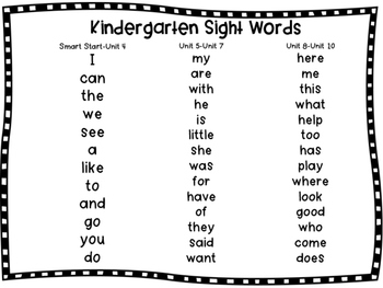 McGraw Hill Wonders Kindergarten Sight Words by Keri