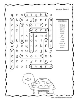 McGraw Hill Wonders Unit 4 High Frequency Word Searches
