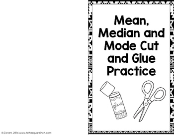 Mean, Median and Mode Practice by To the Square Inch- Kate