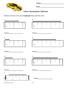 Measurement: Read a Ruler in Halves and Quarters by Macey
