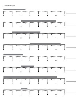 Measurement Worksheet Using the Ruler inches and