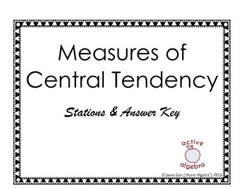Measures of Central Tendency Critical Thinking Stations by