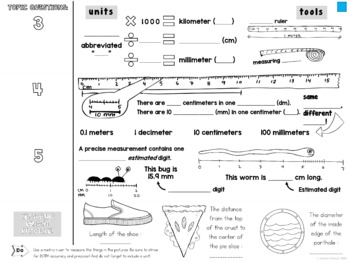 Measuring Matter Cornell Doodle Notes LENGTH MASS WEIGHT
