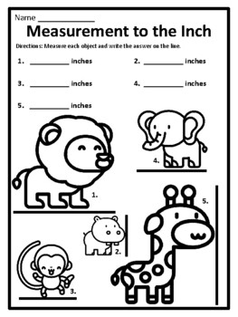 Measuring in Inches Worksheets Measuring Inches Worksheets
