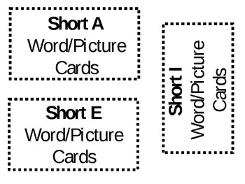 Medial Short Vowel Sounds Word/Picture Cards/SNATCH Game