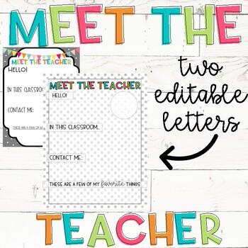 Meet The Teacher Letter By Hildebrandt Huddle Teachers