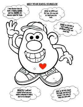 Meet Your School Counselor (Mr. Potato Head) by Maine