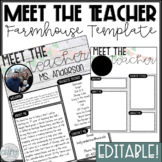 Meet The Teacher Editable Template Teaching Resources