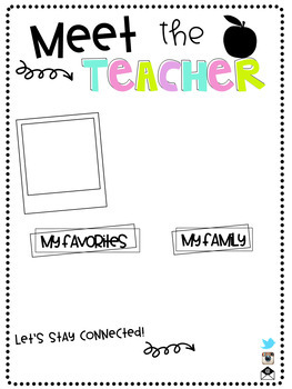 Editable Meet the Teacher Letter (Teacher and Student