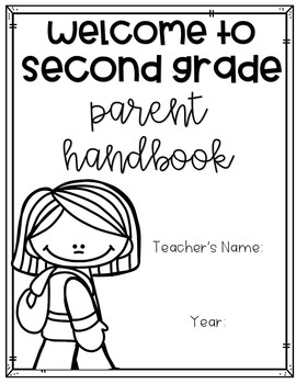 Back to School Parent Handbook {EDITABLE} by Creatively