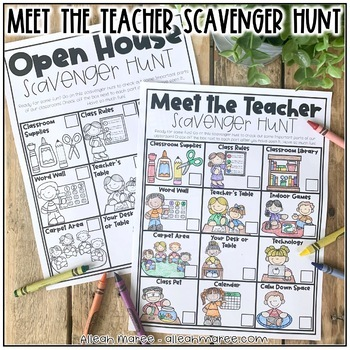 Meet the Teacher Night & Open House Scavenger Hunt