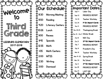 Meet the Teacher Tri-fold Brochure {EDITABLE} by Tamara