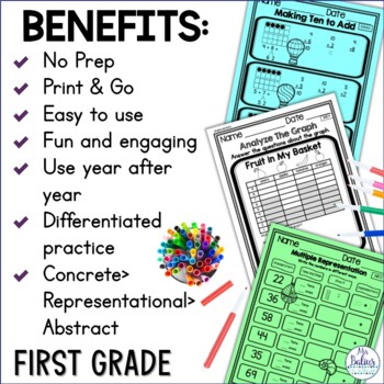 First Grade Math Counting and Number Lines Mega Practice 1