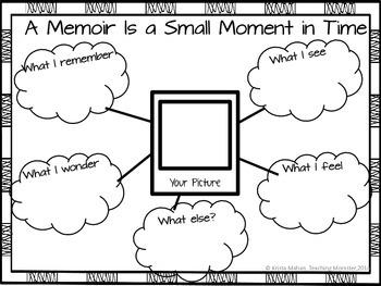 Memoir Graphic Organizer by Krista Mahan Teaching Momster