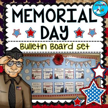 memorial day may bulletin board set u