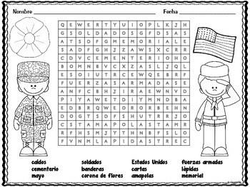 Memorial Day ** Día de los caídos ** in Spanish by Hilda
