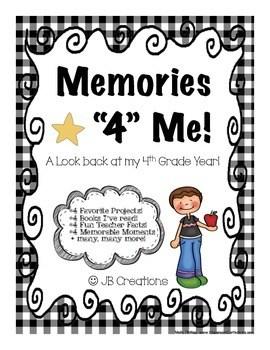4th Grade Memory Book : Memories 4 Me! (end of year