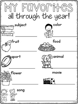 Memory Book End of the Year Activities for First, Second