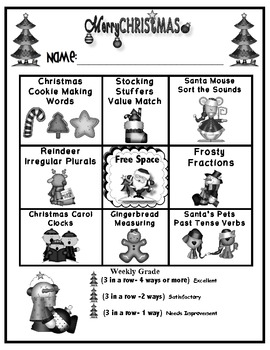 Merry Christmas Common Core Math and Literacy Centers by