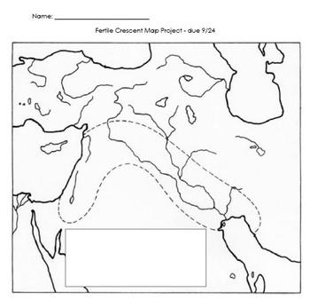 Mesopotamia/Fertile Crescent Map Project by Mrs Urbans