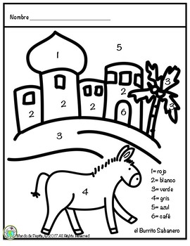 Mi Burrito Sabanero Coloring Page in SPANISH by Mundo de