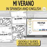 Verano Summer Writing Activity in Spanish & English