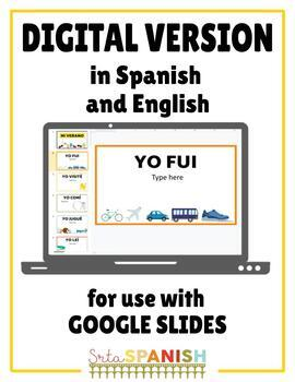 Verano Summer Writing Activity in Spanish & English by