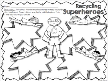 Michael Recycle: Lesson Plans & Worksheet! by Primary