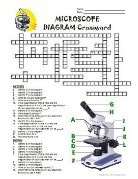 Microscope Crossword with Diagram {Editable} by Tangstar