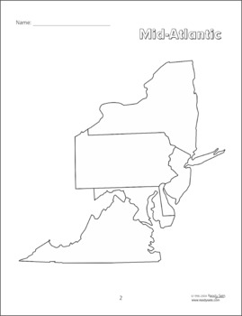 Mid-Atlantic States Supplemental 32 Page Booklet by Mary