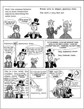 Middle School Language Arts Bundle: Grammar Comics by