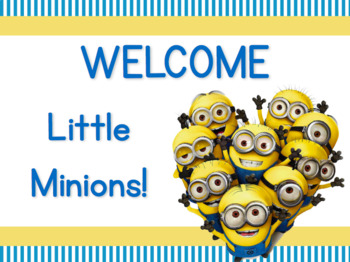 Minion Themed Back To School Station Signs Editable