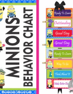 also minions behavior clip chart editable by elementary library lady rh teacherspayteachers