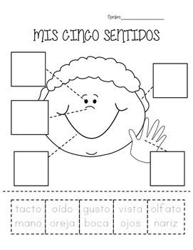 Mis Cinco Sentidos- My Five Senses practice in Spanish by