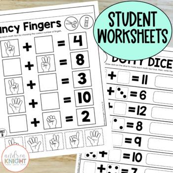 Missing Addends (Math Practice Worksheets for Grades 1-2