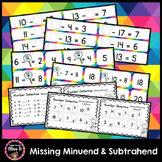 Missing Minuend And Subtrahend Teaching Resources